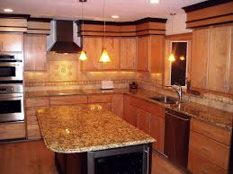 Kitchen Cabinet Backsplash Ideas by Granite Countertop New Yorker Kitchen Cabinets Pictures Of Tile