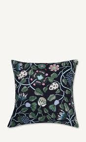 pieni tiara cushion cover 50x50cm blue green grey marimekko com