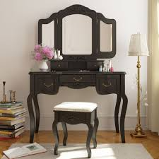 Mirrored Makeup Vanity Table Table Cute Makeup Vanity Table Set With Mirror And Lights