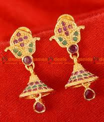 earrings gold design er075 gold plated imitation gold design ear ring trendy stud
