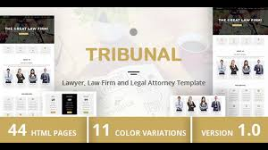 tribunal lawyer law firm and legal attorney template
