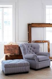 Chair And Sofa Company Fauteuil Et Ottoman Tuftés Signés Ralph Lauren Home Réinventés