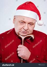 sad lonely mature man santa claus stock photo 283634387 shutterstock