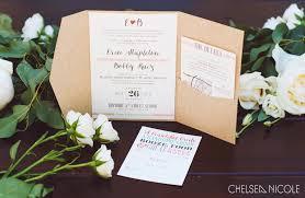 pocket wedding invitations kraft pocket wedding invitations paper and home