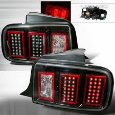mustang led tail lights 05 09 mustang taillights gen 5 led black pair 05tl014