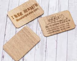 wood business card etsy