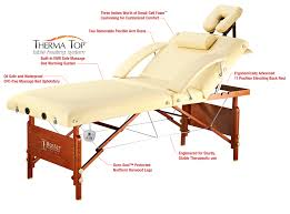Massage Table Heating Pad by The Salon Pro Heated Portable Masssage Table From Master Massage