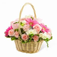 flower basket s day gifts pink dreams flower basket