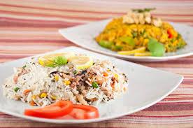 cuisine indienne riz cuisine indienne riz avec des fruits de mer photo stock image du