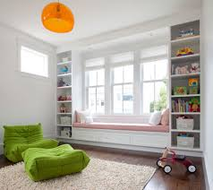 Kids Room Rugs by Cozy Kids Room With Awesome Bay Window Feat Pink Bench Seating And