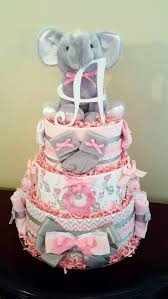 Diaper Cake Decorations For Baby Shower Elephant Diaper Cake Baby Boy Baby Shower Gift Check Out My