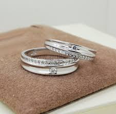 wedding rings set custom name designer silver engagement rings set personalized