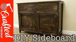 sideboard cabinet diy sideboard buffet cabinet how to build youtube