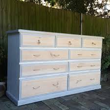 large tallboy chest of drawers sideboard shabby chic beach house