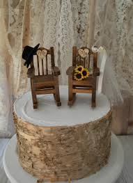 rocking chair wedding cake topper country weddings rustic