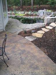 Stain Old Concrete Patio by Poured Concrete Patio With Rock Salt Finish Acid Stain 3 Color