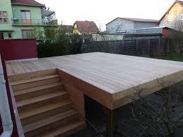 terrasse en bois suspendue conception fournitures et pose de terrasses sur pilotis en bois