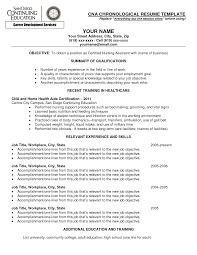 Resume Examples For Entry Level Jobs by Cna Regarding Cna Resume Sample Certified Nursing Assistant Resume