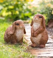 rabbit garden lop eared bunny rabbit garden statue decorative garden accents