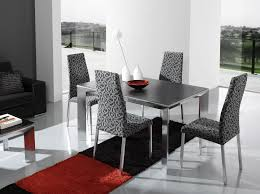 modern dining room chairs for current interior trend traba homes modern dining room chair furniture with alluring metal table on comely red black rugs