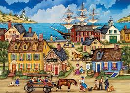 masterpieces jigsaw puzzles seaport jigsaw puzzle at the