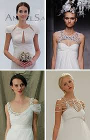 wedding dress necklines non strapless wedding dresses with unique necklines brides