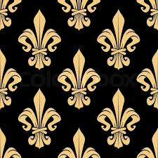 classic wallpaper seamless vintage flower golden heraldic lily flowers seamless pattern for classic wallpaper