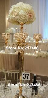wedding candelabra centerpieces aliexpress buy nickel plated wedding candelabra with flower