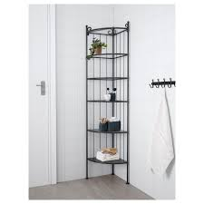 ikea corner kitchen cabinet shelf rönnskär corner shelf unit black