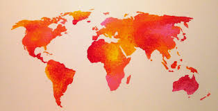 Etsy World Map by Life In Color Colorful World Map Tutorial
