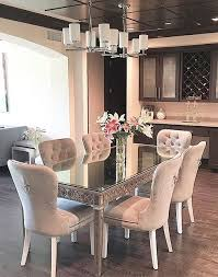 Mirrored Dining Room Furniture Our Mirrored Dining Table Elegantly Reflects Its And Also