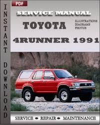 toyota 4runner repair toyota 4runner 1991 digital workshop service repair manual