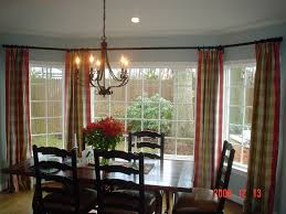 Double Curtain Rod Interior Design by Home Accessories Simple Bay Window Curtain Rod With Green Curtain