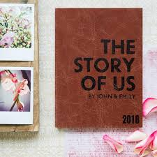 wedding gift personalised unique wedding gift the story of us notebook personalised