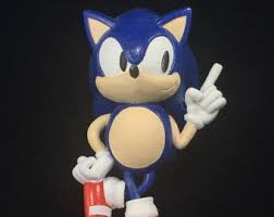 sonic hedgehog etsy