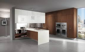 cuisine blanc et noyer meuble cuisine blanc laqu amnagement linaire cuisine sur mesure
