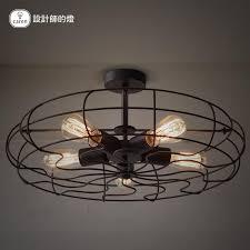 Edison Ceiling Light Vintage Loft American Ceiling Fan Lamp Personality Industrial