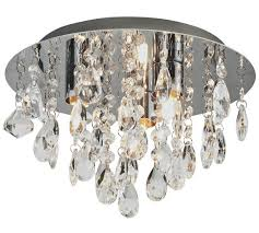 Glass Droplet Chandelier Buy Collection Ivy Glass Droplet Ceiling Light Chrome At Argos