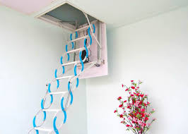 aluminium sliding loft ladder 2 sections attic extending steps