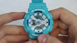 light blue g shock watch g shock ga110 sn 3a in depth review youtube