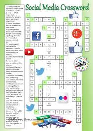 social media crossword key esl worksheets of the day