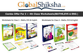 buy combo offer for class 3rd 4th worksheets maths evs and eng