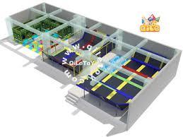 popular large kids indoor trampoline bed for sale ql a017