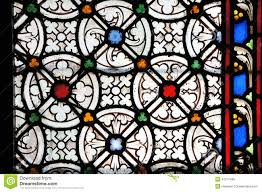 ornaments in stained glass window stock photo image 41217489