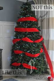 christmas christmas how to decorate tree with wide mesh ribbon