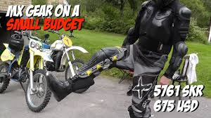 gear for motocross motocross gear on a small budget youtube