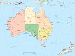 Common Mapa da Oceania - Austrália e Nova Zelândia &DU83