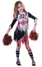 childs halloween costumes zombie cheerleader girls fancy dress kids childrens childs