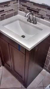 Glacier Bay Bathroom Cabinets Glacier Bay Delridge 24 In W X 19 In D Bath Vanity In Chocolate
