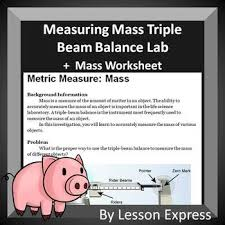 measuring mass lab metric system lab and worksheet by lessonexpress